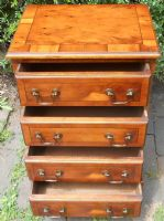 SOLD - Small Georgian Style Yew Chest of Drawers